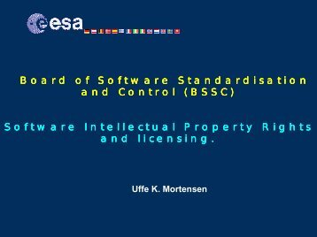 Software Intellectual Property Rights and licensing.