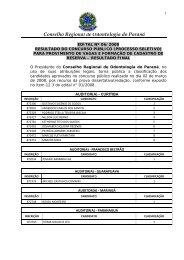 Conselho Regional de Odontologia do Paraná