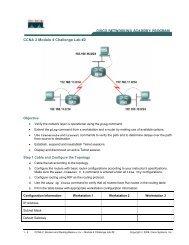 CCNA 2 Module 4 Challenge Lab #2