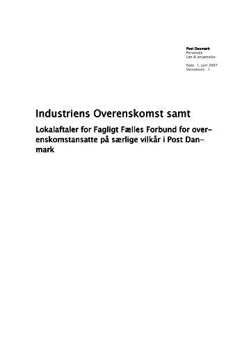 Overenskomst 2007-2010_SV - 3F-Post