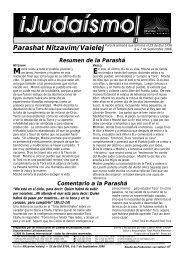 Resumen de la Parashá Comentario a la Parashá - Ohr Somayach
