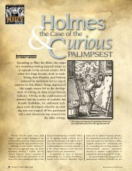 Holmes and the Case of the Curious Palimpsest