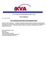 2012 State All Tournament Teams Press Release - Kansas ...