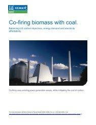 Co-firing biomass with coal. - DNV Kema