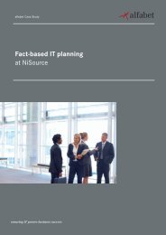 Fact-based IT planning at NiSource - Alfabet