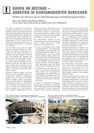 Bauen im Bestand - Arbeiten in kontaminierten Bereichen