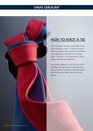 How to knot a tie Our tips are - Van Graaf