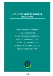 Heavy Vehicle Drivers Handbook 2008 - Rego ACT - ACT Government
