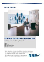 REVERSE BUSINESS ENGINEERING - IBIS Prof. Thome