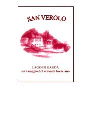 Lago di Garda - il versante bresciano - Locanda San Verolo
