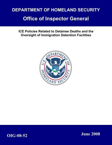 ICE Policies Related to Detainee Deaths and the Oversight ... - PARDS