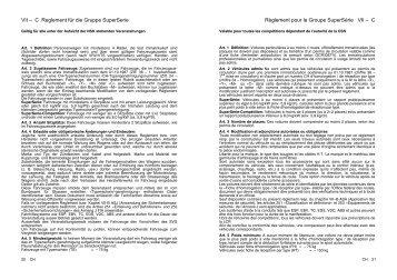 Reglement Gruppe SuperSerie 2011