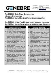 Art.5986 02 Caja Final Carrera con UArt.5986 02 Limit Switch ... - TDM