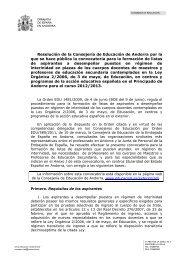 Borrador convocatoria interinos en Andorra para el ... - FETE-UGT