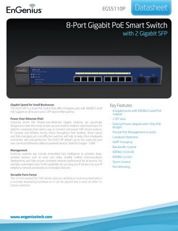 EGS5110P Datasheet - EnGenius Technologies