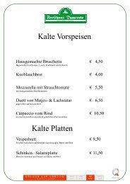 Unsere Speisekarte - Urlaub auf Usedom