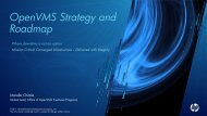 OpenVMS Strategy and Roadmap