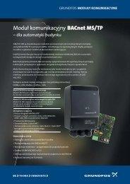 Moduł komunikacyjny BACnet MS/TP - Grundfos