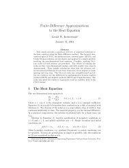 Finite-Difference Approximations to the Heat Equation