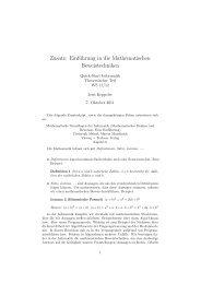 Zusatz: Einführung in die Mathematischen Beweistechniken