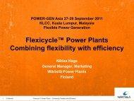 Flexicycle™ Power Plants Combining flexibility with ... - Wärtsilä