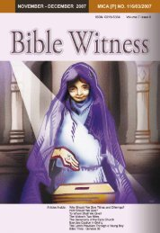 Cheerful Givers - Bible Witness Media Ministry