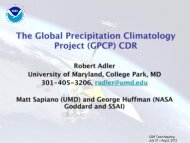 The Global Precipitation Climatology Project (GPCP) CDR Bundle