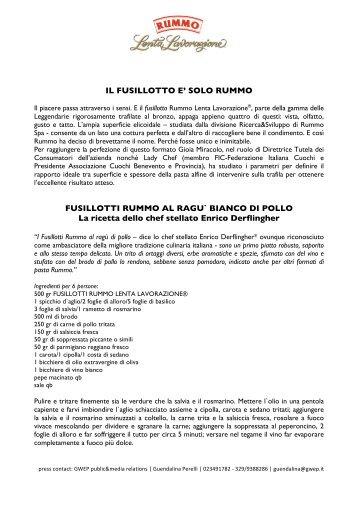 Com. Rummo Fusillotto Pastatrend 2011-1 - Vini e Sapori