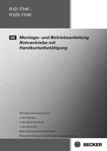 R12/17HK - R120/11HK Montage- und Betriebsanleitung ...
