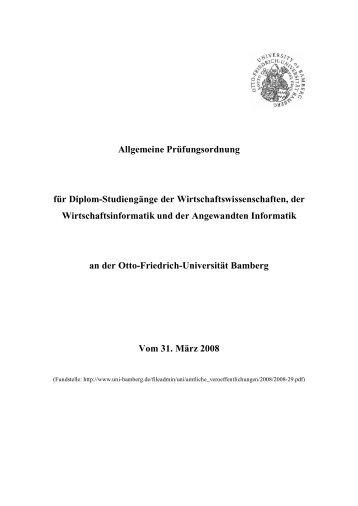 Allgemeine Prüfungsordnung für Diplom-Studiengänge der ...