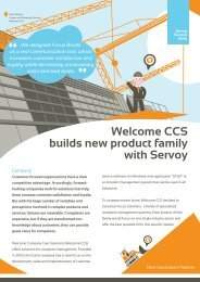 Welcome CCS builds new product family with Servoy
