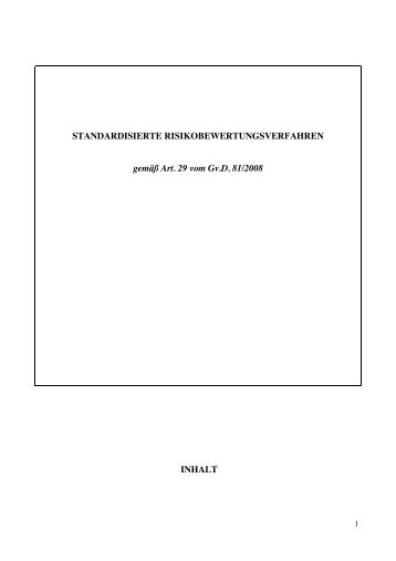 Risikobewertung Standardformular - N.e.t.z.