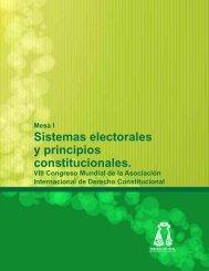 Sistemas electorales y principios constitucionales. - Tribunal ...