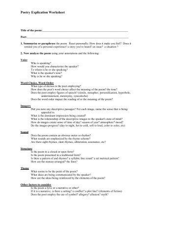 poetry explication edocs poetry explication worksheet