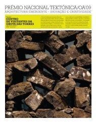 PRÉMIO NACIONAL TEKTÓNICA/OA'09 - Ordem dos Arquitectos