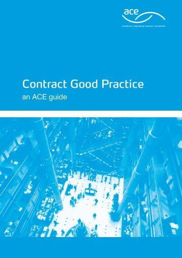 Contract Good Practice - Association for Consultancy and Engineering