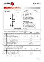 1N5820 - 1N5822 3 Amp. Schottky Barrier Rectifiers Maximum ...