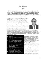 Henry Kissinger 1973 - The Nobel Peace Laureate Project