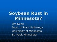 Soybean Rust in Minnesota? - Department of Agronomy and Plant ...
