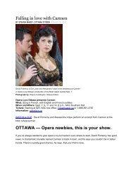 Falling in Love with Carmen - Opera Lyra Ottawa