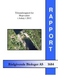 Tilstandsrapport for Hopsvatnet i Askøy 2012. - Rådgivende ...