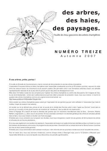 numéro 13 - septembre 2007 - Arbre & Paysage
