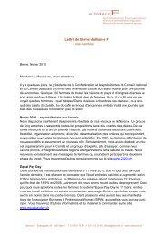 lettre de Berne février 2010 (PDF 45kb) - alliance F