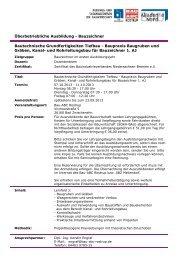 Ausschreibung (pdf) - BAU-Akademie-Nord