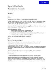 2004 Half Year Results Speech - Salmat