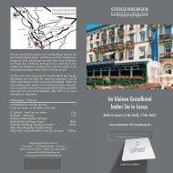 Im kleinen Grandhotel baden Sie in Luxus. - Steigenberger Hotels ...