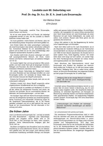 Laudatio Zum 60. Geburtstag Von Prof. Dr.   Computer Graphics Lab .
