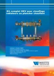 Kit complet HKV pour chauffage radiateurs ou ... - Watts Industries