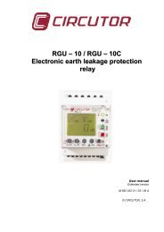 RGU – 10 / RGU – 10C Electronic earth leakage protection ... - Circutor