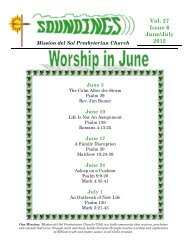 Vol. 27 Issue 6 June/July 2012 - Mission Del Sol Presbyterian